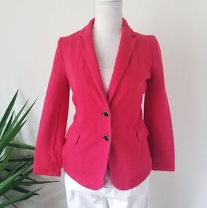 Old Navy Cotton Blend Red Fitted Casual Blazer M